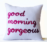 Handmade personalized throw pillow covers for couples with sweet messages