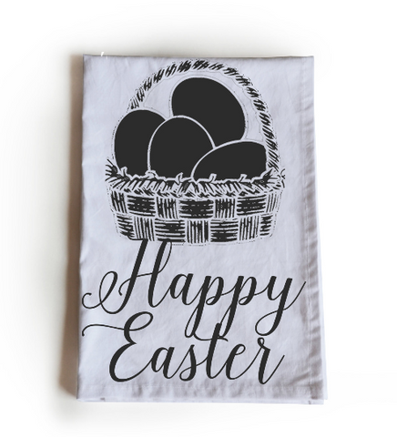 Handmade, personalized cotton Easter Tea Towels