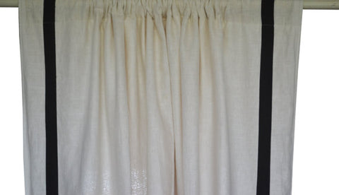 Amore beaute ivory linen curtain