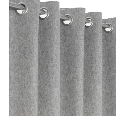 Amore Beaute Grey Wool Curtains