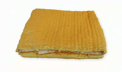 Amore Beaute Golden Yellow Quilt Velvet Quilt