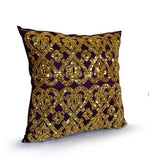 Purple Gold Throw Pillow Cover, Sequin Pillow, Gold Bead Pillow,Decorative pillow