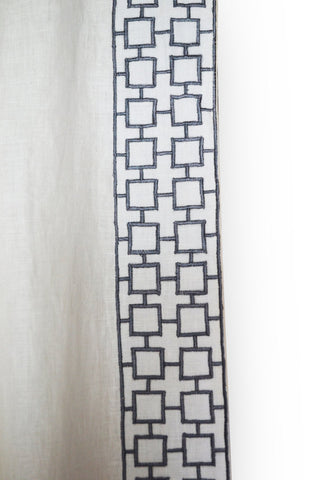 Amore beaute lattice embroidered curtains