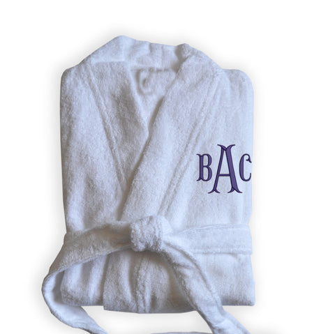 Personalized White Bath Robes