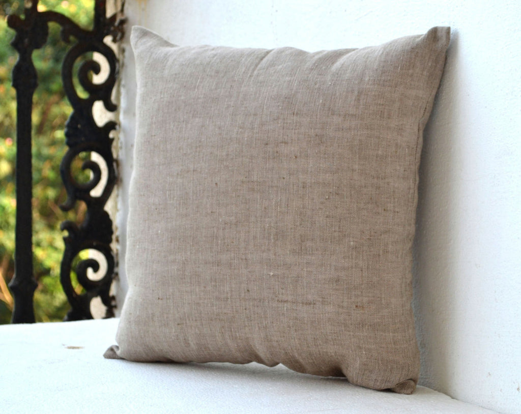 Shop Online For Handmade Light Brown Throw Pillow Cover In Linen Amore Beaute