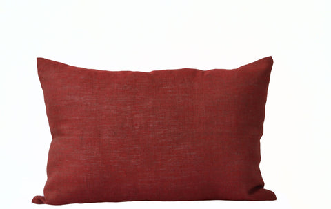 Handmade burnt red decorative throw pillow