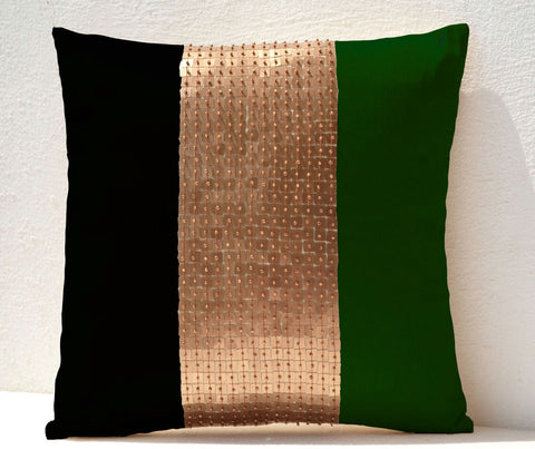 Handmade throw pillows with color block
