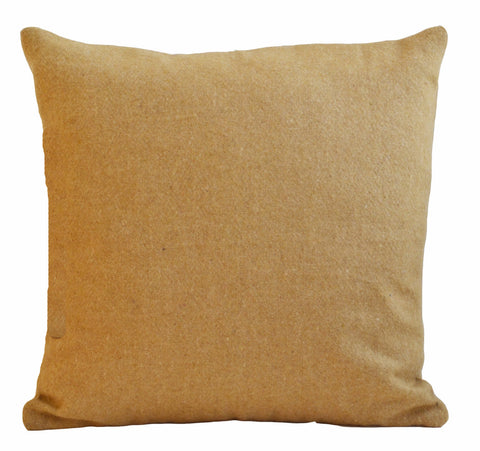 Handmade beige felt throw pillow cover felt throw pillow cover