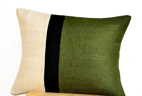 Handmade forest green cushion cover