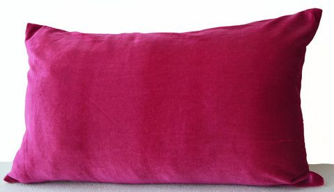 Handmade hot pink lush velvet pillows