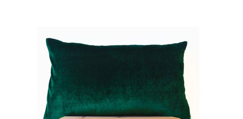 Custom Made - Emerald Green Velvet Ruffle Bed Spread