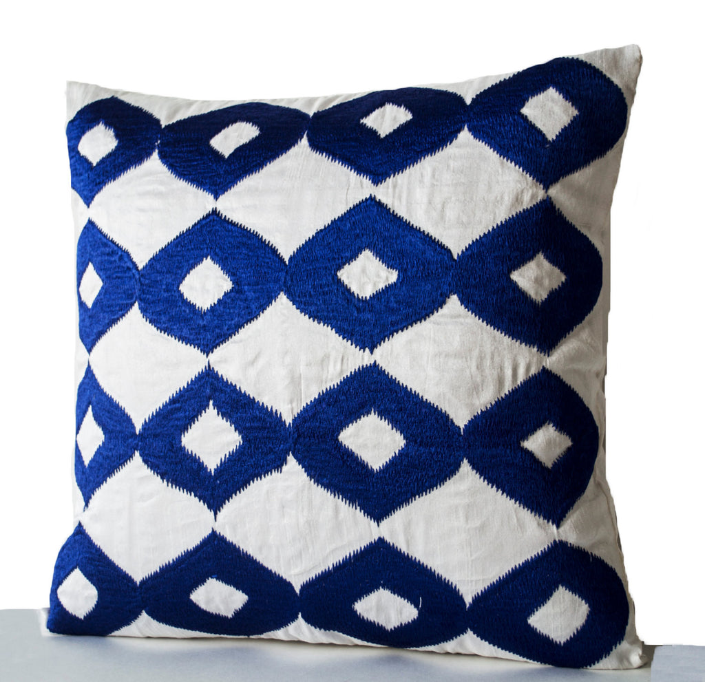 Shop Online For Handmade Royal Blue Pillow Cover With