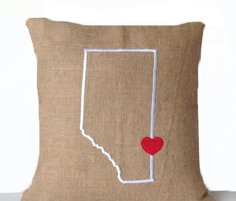 Handmade, personalized Canada themed cushion cover