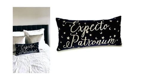 Dorm Pillow, Expecto Patronum Pillow, Wizard Nursery Pillow, Wizard Decor Gifts