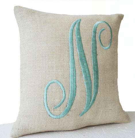 amore beaute farmhouse monogram pillow