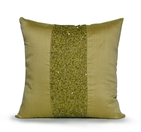 Chartreuse Green Decor Pillow, Cushion Cover Faux Silk,Decorative pillow