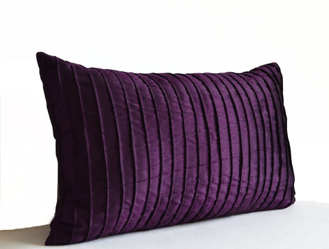 amore beaute dark purple silk pillow