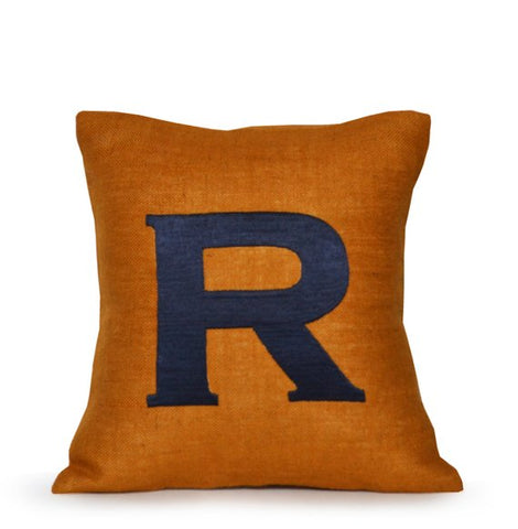 Monogram Pillows, Burlap Throw Pillow, Custom Letter Pillows,Decorative pillow