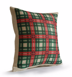 Handmade, personalized country plaid throw pillow