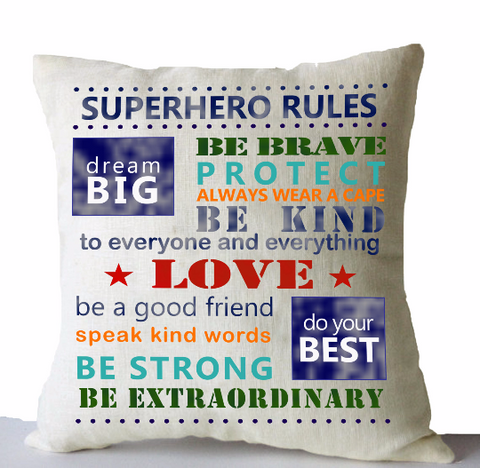 Personalized Superhero Decorative Throw Pillow Cover