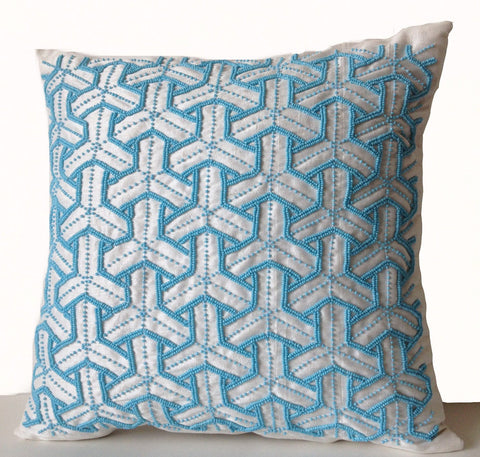 amore beaute turquoise bead pillow