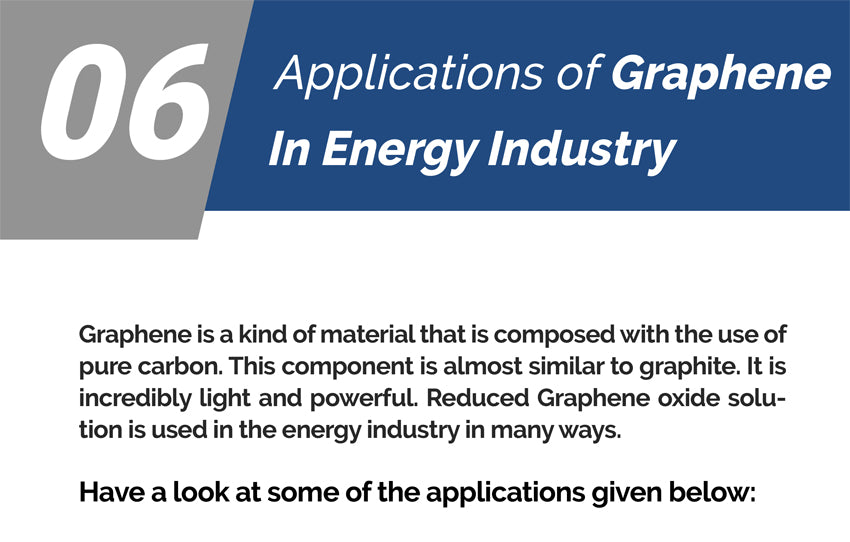 6 Applications of Graphene In Energy Industry