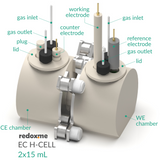 Electrochemical H-cell setup,  MSE Supplies LLC