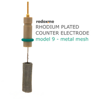 Rhodium plated counter electrode, model 9 - metal mesh,  MSE Supplies