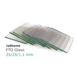 FTO Glass, pack of 10, 25 x 25 mm, 12~15 Ohm/sq,  MSE Supplies