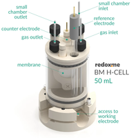 Bottom mount electrochemical H-Cell setup,  MSE Supplies LLC