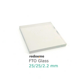 FTO Glass, pack of 10, 25 x 25 mm, 12~15 Ohm/sq,  MSE Supplies LLC