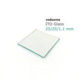 ITO Glass, pack of 10, 25x25x1.1mm, <10 Ohm/sq,  MSE Supplies LLC