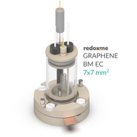 Bottom mount electrochemical cell setup, 7mm x 7mm,  MSE Supplies LLC