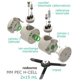 Photo-electrochemical H-cell setup,  MSE Supplies LLC
