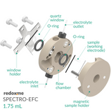 Spectro-electrochemical flow cell setup,  MSE Supplies