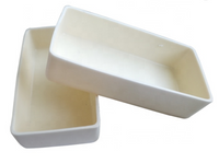 High Purity Alumina (Al<sub>2</sub>O<sub>3</sub>) Boat Crucible Rectangular,  MSE Supplies