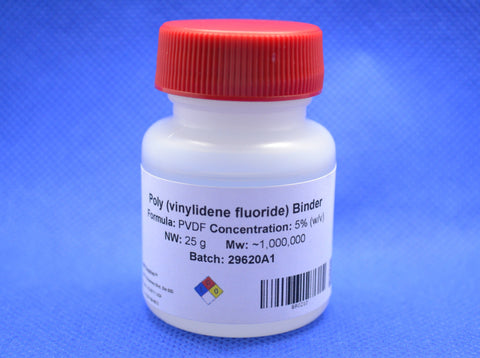 Poly(vinylidene fluoride) binder (PVDF) - 25 mL, 5%,  MSE Supplies