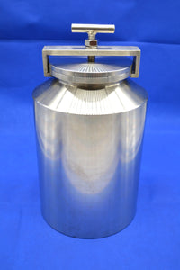 5L (5,000ml) Stainless Steel Roller Mill Jars - 304 or 316 Grade,  MSE Supplies