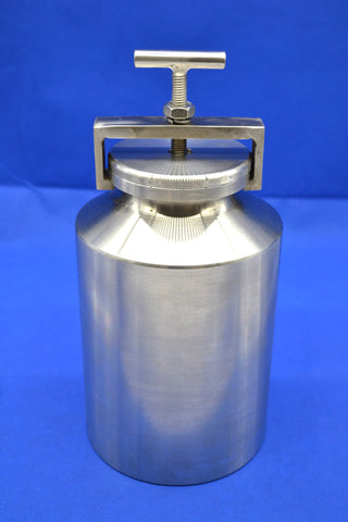 2L (2,000ml) Stainless Steel Roller Mill Jars - 304 or 316 Grade,  MSE Supplies LLC