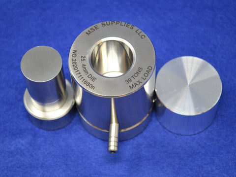 "1.0"" (25.4 mm) Diameter Dry Pellet Pressing Die Set,  MSE Supplies LLC"