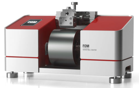 Roll Based Slot Die Coater, Model FOM nanoRC, made in Denmark by FOM Technologies,  MSE Supplies LLC