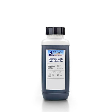 1000 ml, 1L Monolayer Graphene Oxide Water Dispersion 4 mg/ml,  MSE Supplies