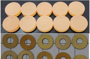 Piezoelectric Langatate  La3Ga5.5Ta0.5O14 (LGT) Crystal, Ring, can be customized,  MSE Supplies