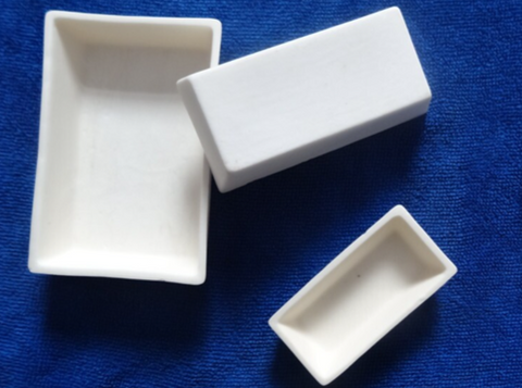 Magnesium Oxide (MgO) Rectangular Tray Crucibles,  MSE Supplies