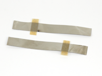 50 pcs of 4mm wide Aluminum Tab with Adhesive Polymer Tape for Positive Terminal of Pouch Cell,  MSE Supplies LLC