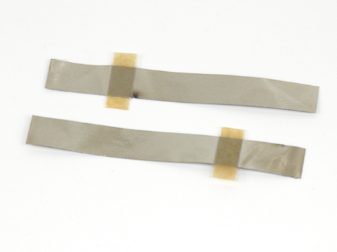 50 pcs of 4mm wide Nickle Tab with Adhesive Polymer Tape for Negative Terminal of Pouch Cell,  MSE Supplies LLC