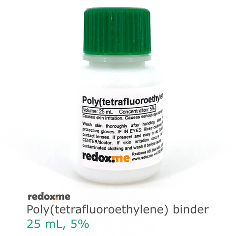 Poly(tetrafluoroethylene) binder (PTFE) - 25 mL,  MSE Supplies