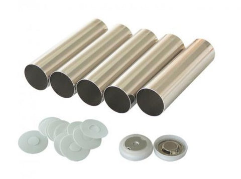 100 pcs of 18650 Cylinder Cell Case with Anti-Explosive Cap and Insulation O-ring,  MSE Supplies