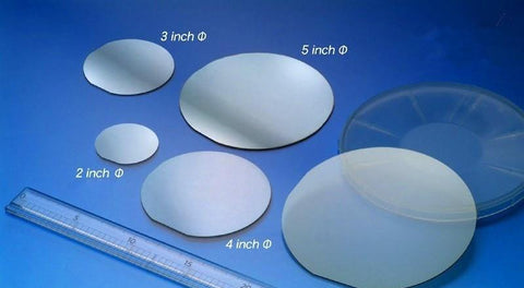4 inch Sapphire Wafer, C-plane (0001), Single Crystal Al2O3, SSP or DSP,  MSE Supplies