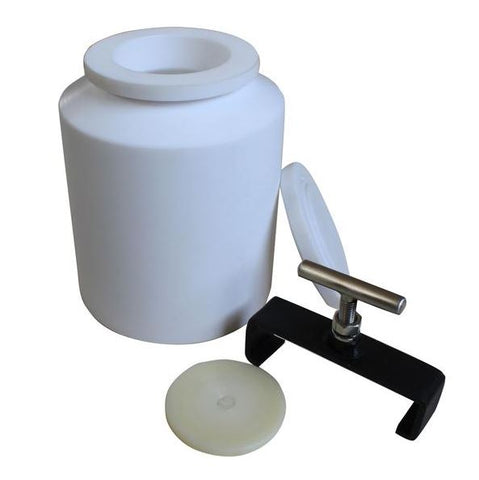 5L (5,000 ml) PTFE Teflon Roller Mill Grinding Jar,  MSE Supplies LLC